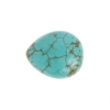 """Turquoise Drop 18x15x9mm 16"""" Strand Stabilized Green"""